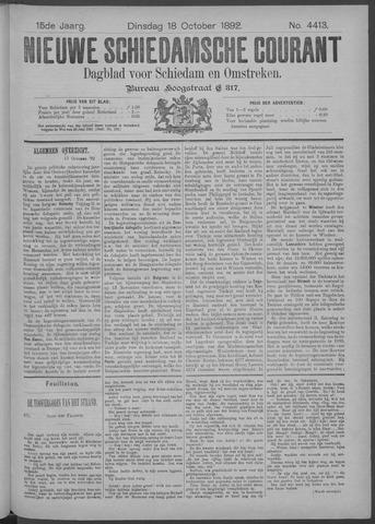 Nieuwe Schiedamsche Courant 1892-10-18