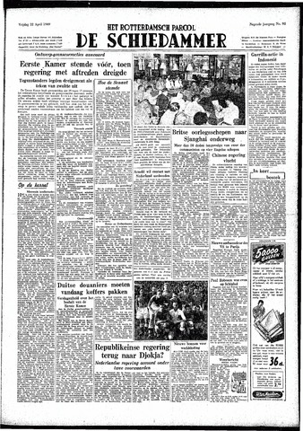 Rotterdamsch Parool / De Schiedammer 1949-04-22