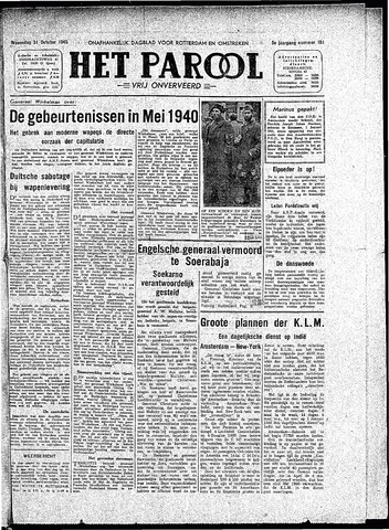 Rotterdamsch Parool / De Schiedammer 1945-10-31