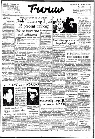 Trouw / De Rotterdammer 1957-02-01