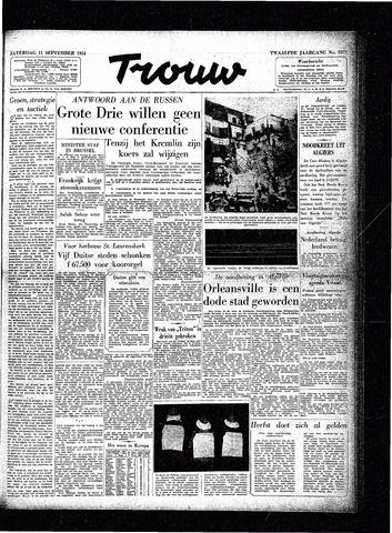 Trouw / De Rotterdammer 1954-09-11