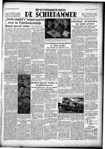 Rotterdamsch Parool / De Schiedammer 1948-02-25