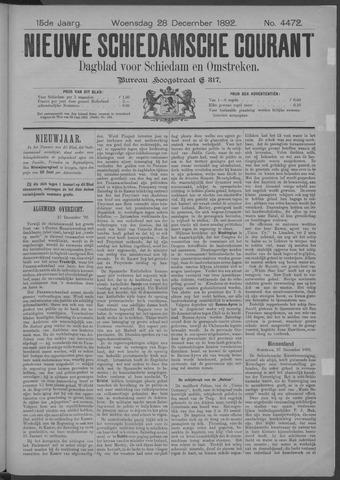 Nieuwe Schiedamsche Courant 1892-12-28