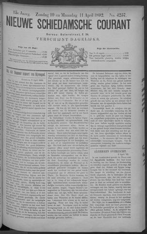 Nieuwe Schiedamsche Courant 1892-04-11