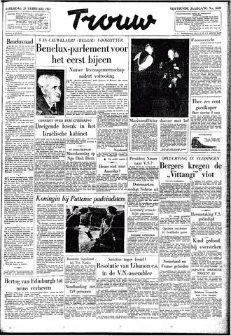 Trouw / De Rotterdammer 1957-02-23