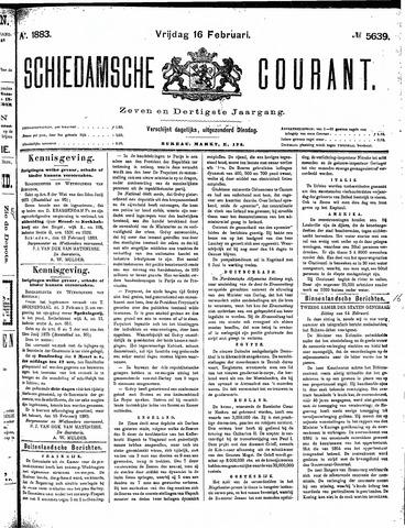 Schiedamsche Courant 1883-02-16