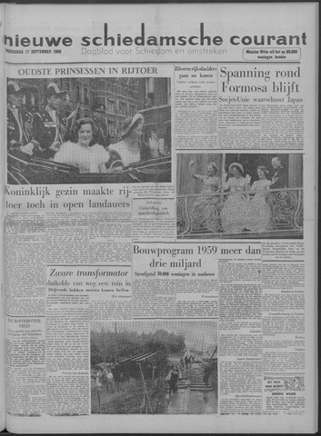 Nieuwe Schiedamsche Courant 1958-09-17