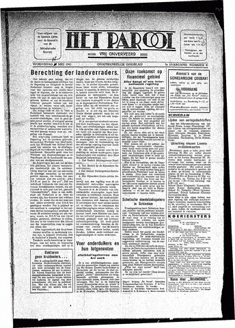 Rotterdamsch Parool / De Schiedammer 1945-05-15