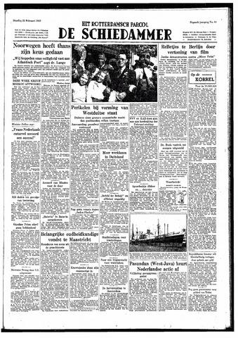 Rotterdamsch Parool / De Schiedammer 1949-02-22