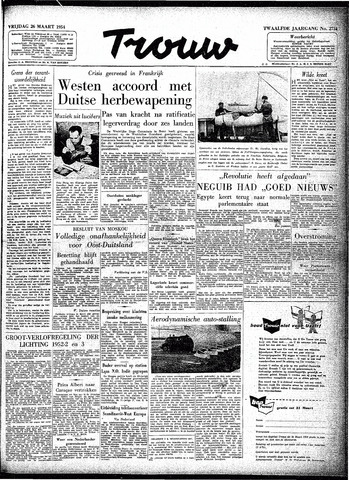 Trouw / De Rotterdammer 1954-03-26