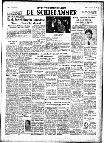 Rotterdamsch Parool / De Schiedammer 1948-04-16