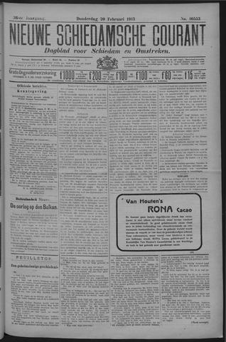 Nieuwe Schiedamsche Courant 1913-02-20