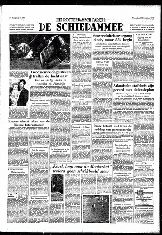 Rotterdamsch Parool / De Schiedammer 1949-11-30