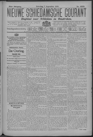 Nieuwe Schiedamsche Courant 1918-09-07