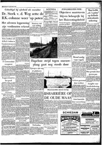 Rotterdamsch Parool / De Schiedammer 1963-01-09