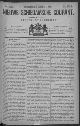 Nieuwe Schiedamsche Courant 1886-10-07