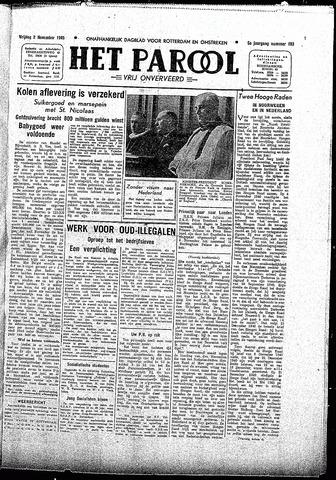 Rotterdamsch Parool / De Schiedammer 1945-11-02