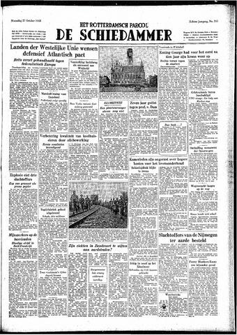 Rotterdamsch Parool / De Schiedammer 1948-10-27