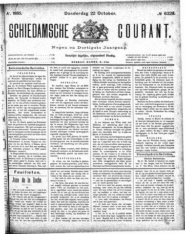 Schiedamsche Courant 1885-10-22