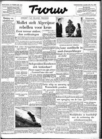 Trouw / De Rotterdammer 1956-02-29