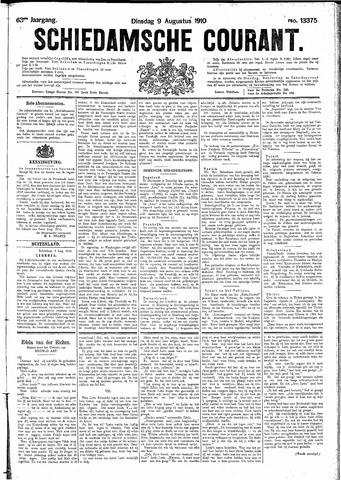 Schiedamsche Courant 1910-08-09