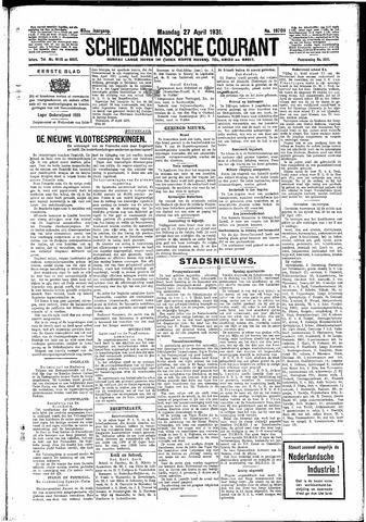 Schiedamsche Courant 1931-04-27