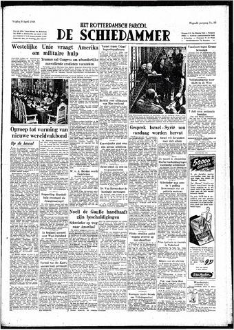 Rotterdamsch Parool / De Schiedammer 1949-04-08