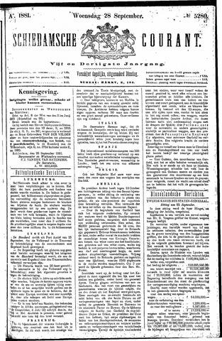 Schiedamsche Courant 1881-09-28
