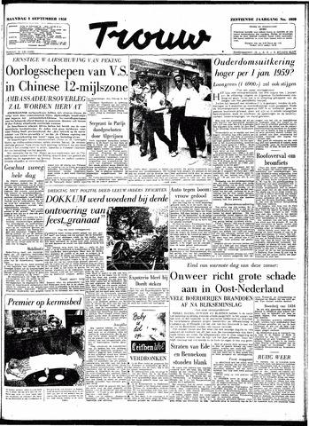 Trouw / De Rotterdammer 1958-09-08