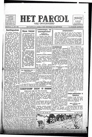 Rotterdamsch Parool / De Schiedammer 1945-06-23