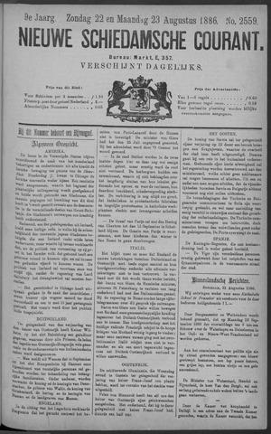 Nieuwe Schiedamsche Courant 1886-08-23