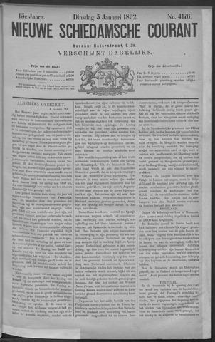 Nieuwe Schiedamsche Courant 1892-01-05