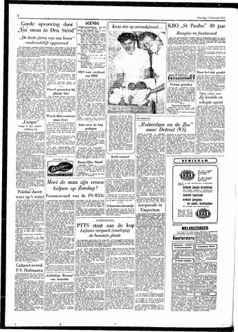 Rotterdamsch Parool / De Schiedammer 1955-02-07