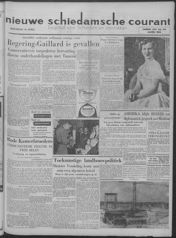 Nieuwe Schiedamsche Courant 1958-04-16
