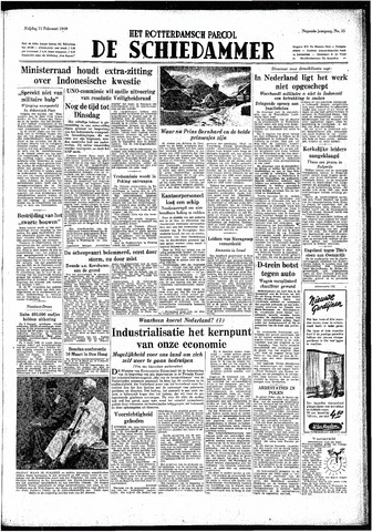 Rotterdamsch Parool / De Schiedammer 1949-02-11