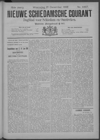 Nieuwe Schiedamsche Courant 1892-12-21