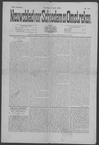 Nieuwsblad voor Schiedam en Omstreken 1892-04-16