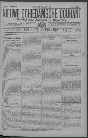 Nieuwe Schiedamsche Courant 1913-01-24