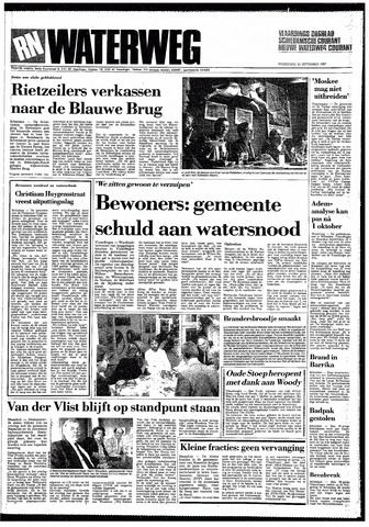 Rotterdamsch Nieuwsblad / Schiedamsche Courant / Rotterdams Dagblad / Waterweg / Algemeen Dagblad 1987-09-23