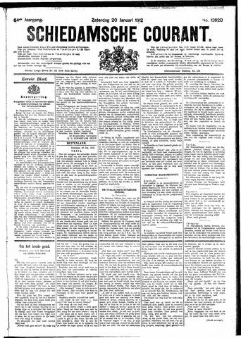 Schiedamsche Courant 1912-01-20