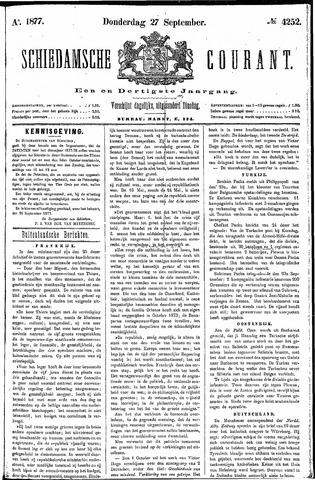 Schiedamsche Courant 1877-09-27