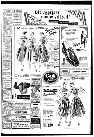 Rotterdamsch Nieuwsblad / Schiedamsche Courant / Rotterdams Dagblad / Waterweg / Algemeen Dagblad 1953-04-20
