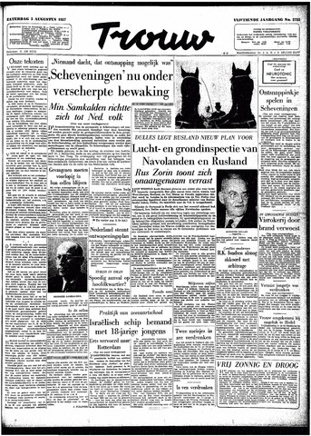 Trouw / De Rotterdammer 1957-08-03