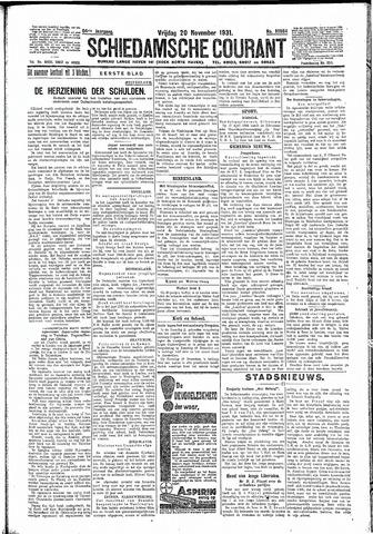 Schiedamsche Courant 1931-11-20