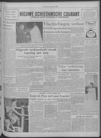 Nieuwe Schiedamsche Courant 1958-01-29