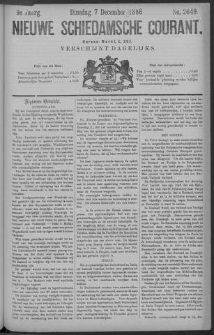 Nieuwe Schiedamsche Courant 1886-12-07