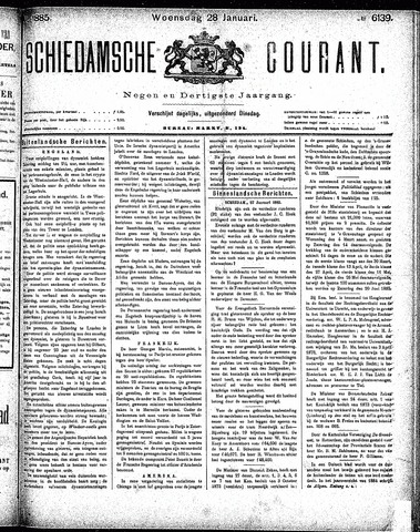 Schiedamsche Courant 1885-01-28