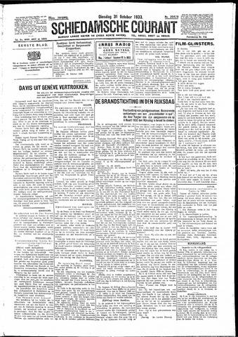 Schiedamsche Courant 1933-10-31