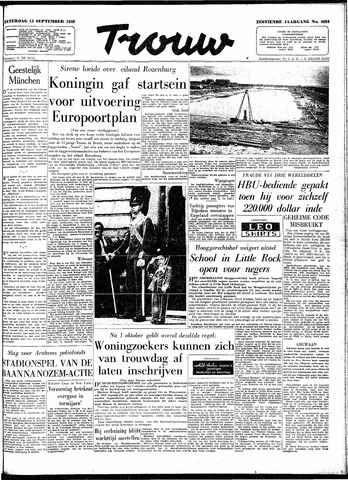 Trouw / De Rotterdammer 1958-09-13