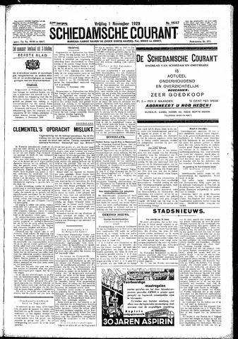 Schiedamsche Courant 1929-11-01